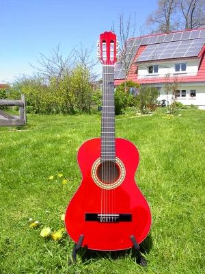 Kirkland red ¾ Gitarre, Classic Guitar, Kindergitarre